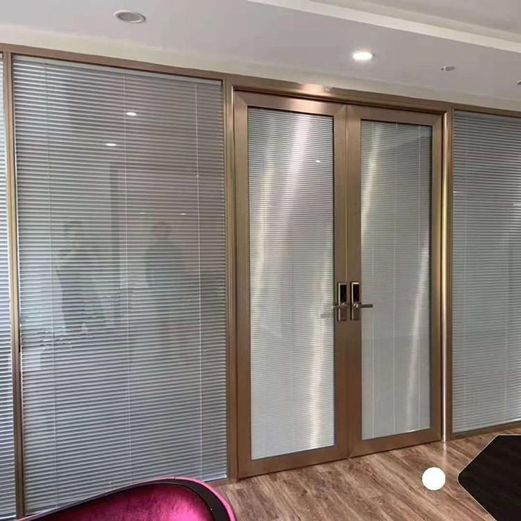 简合建材 会议室百叶隔断 办公室钢化玻璃隔断  高隔间  厂家直销