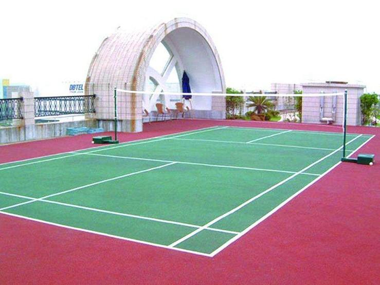 防紫外线耐老化硅PU篮球场 全天候室内外运动场地坪 硅pu篮球场3mm