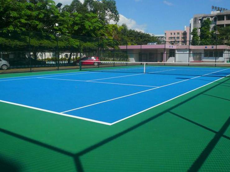 弹性丙烯酸篮球场价格优惠广东厂家直销双源诚专业团队施工
