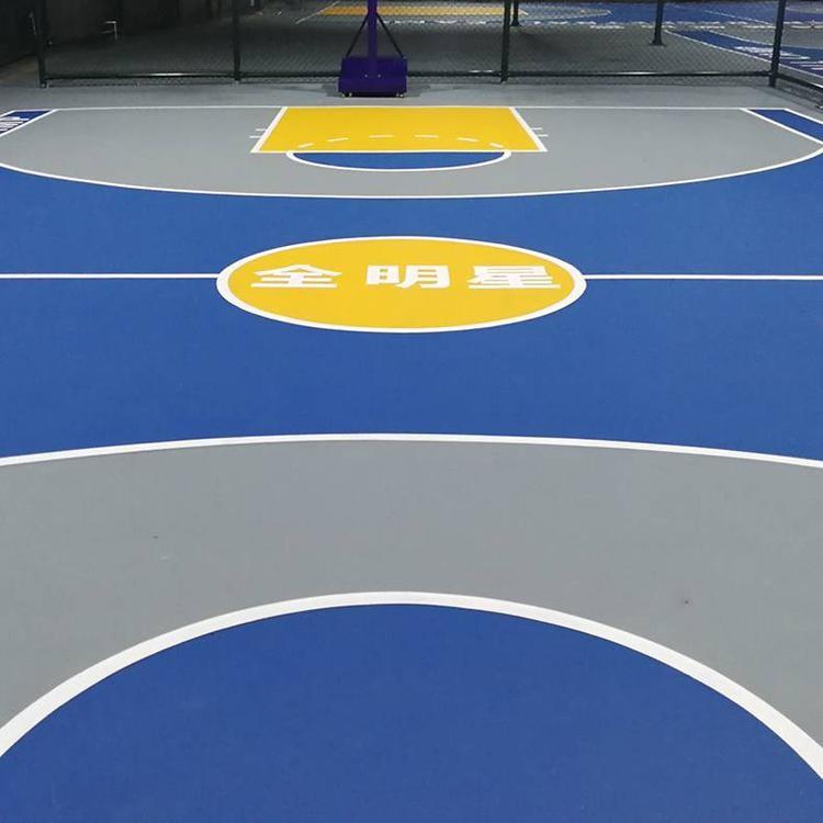 广东厂家直销 塑胶网球场 硅pu塑胶羽毛球球场 惠州塑胶硅PU球场 硅pu球场施工 双源诚 减震、安全、环保