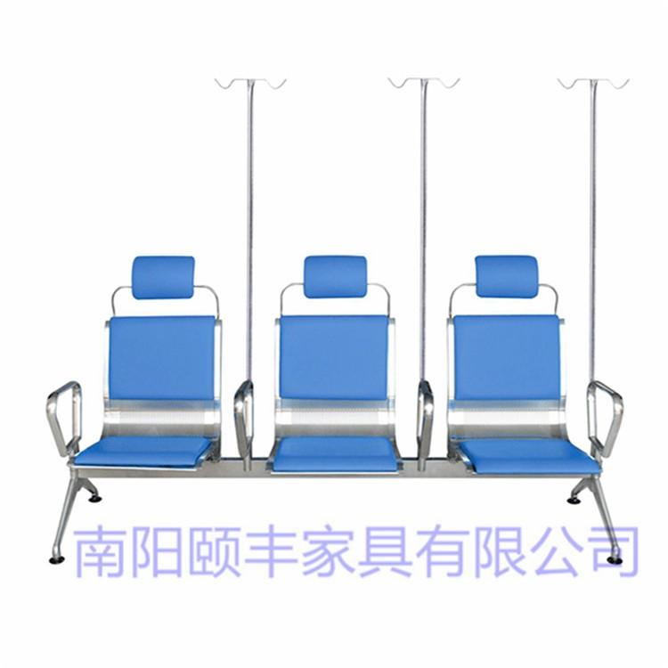 江西医院输液椅-陕西医用输液椅-不锈钢输液椅-江西门诊三人位输液椅-卫生院输液椅-可调型输液椅厂家 F-010
