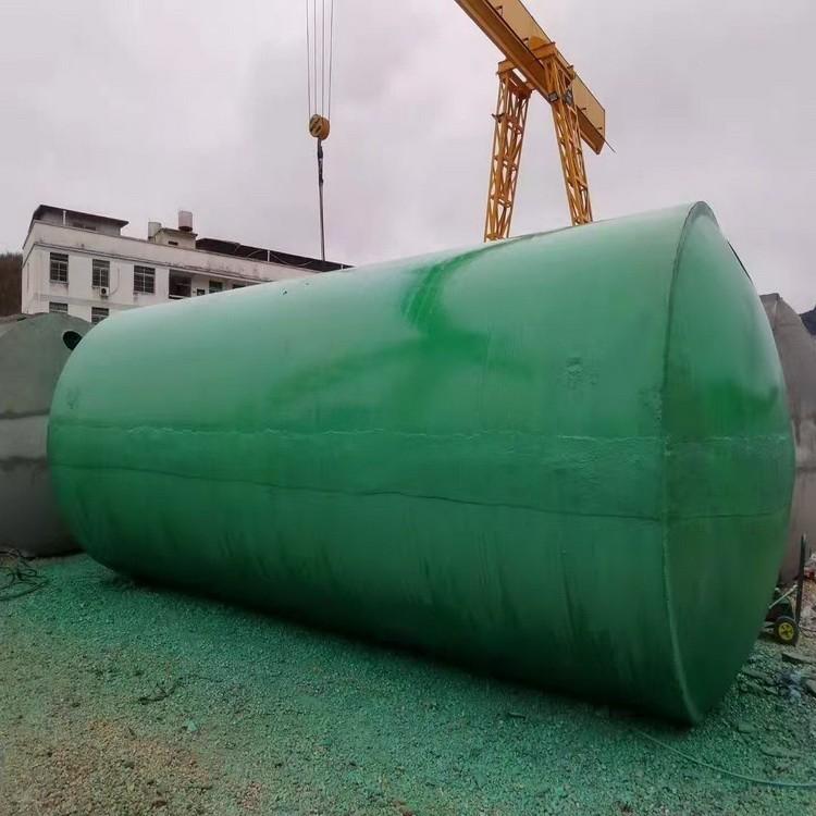 厂家直销 缠绕玻璃钢化粪池工地环保三格一体 可帮安装 规格可定制华辉环保设备