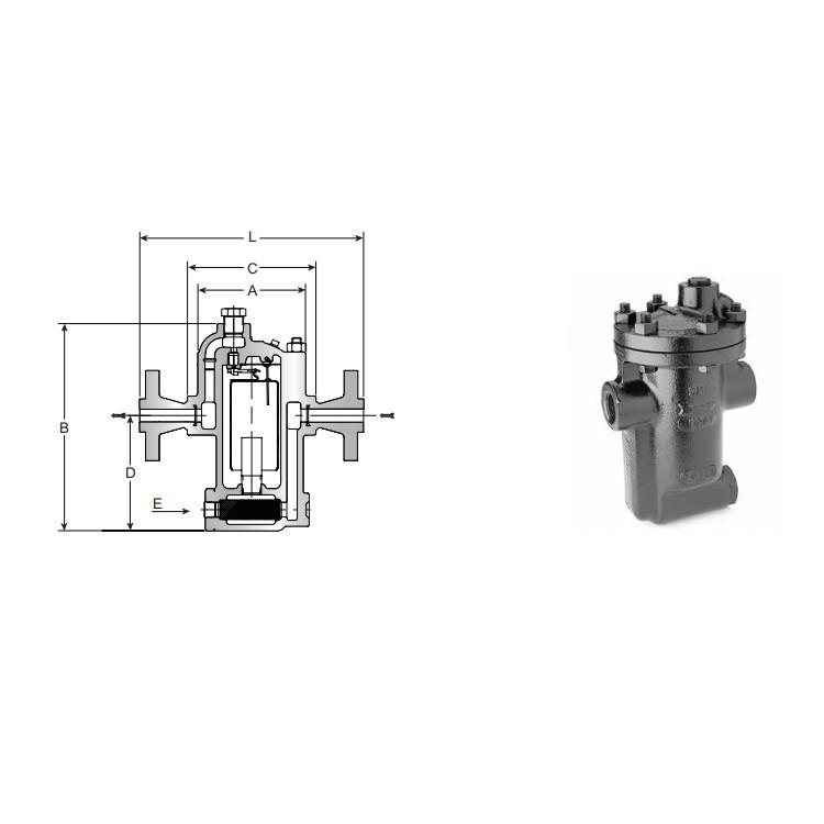美国阿姆斯壮疏水阀 981/983型倒置桶型蒸汽疏水阀 铸钢疏水阀 内置过滤器疏水阀