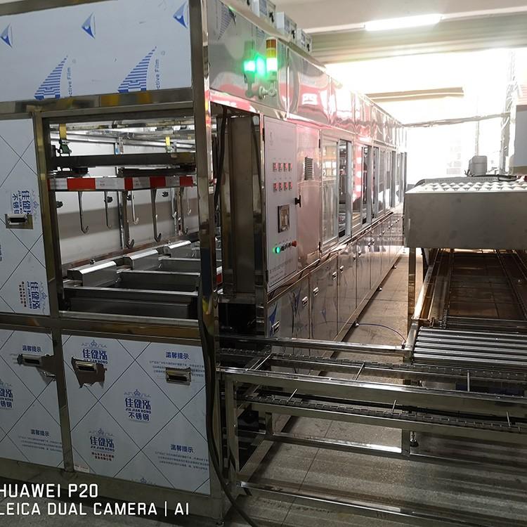 14槽同步式超声波清洗机供应 超声波清洗流水线定制
