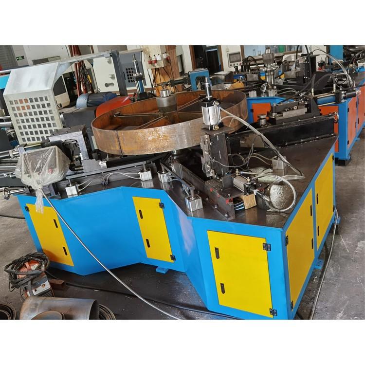 创德厂家生产液压罗茨风机自动翻边机 风机卷边冲孔机