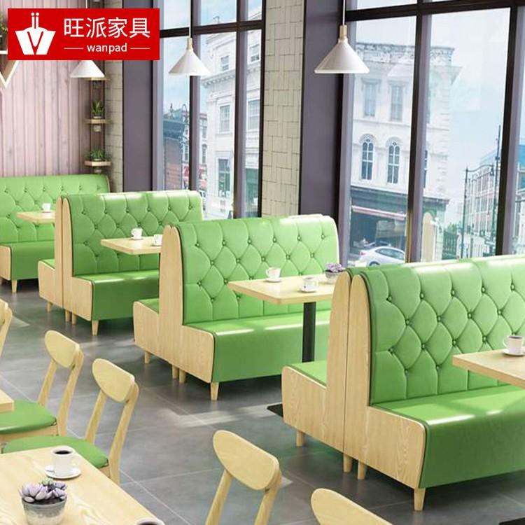 广州荔联街道中港式茶餐厅4人位防火板软包卡座沙发定做