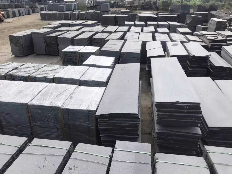 厂家直销 芝麻黑火烧板 花岗岩石材批发福建石材基地 量大价优 哲杰石材