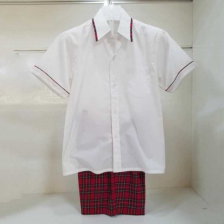 晋江中小学校服夏季棉质短袖套装男女生裙裤套装定制 厂家直销
