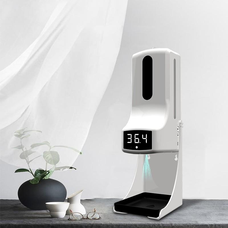 现货供应 K9pro自动皂液器测温消毒一体非接触式红外测温自动皂液机免洗皂液机