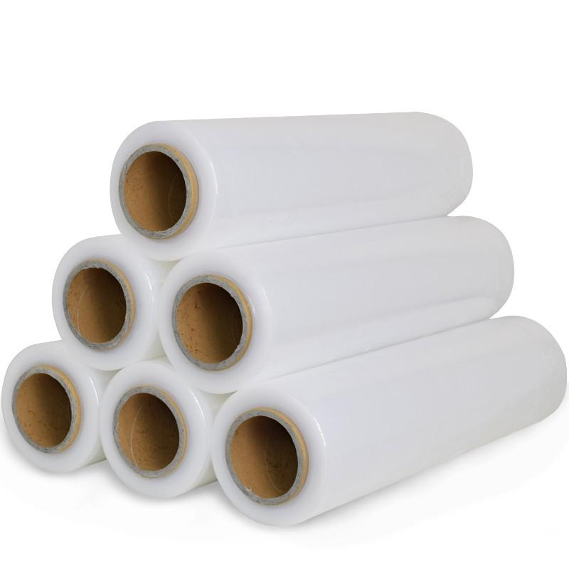 50cm宽缠绕膜PE保护膜拉伸膜塑料薄膜包装膜工业保鲜膜大卷打包膜