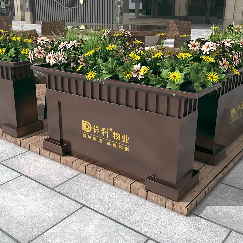 优质镀锌板花箱 新中式花箱 结实耐用花箱