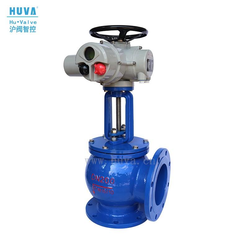 沪阀HUVA  电动角式排泥阀J944X 电动排泥阀