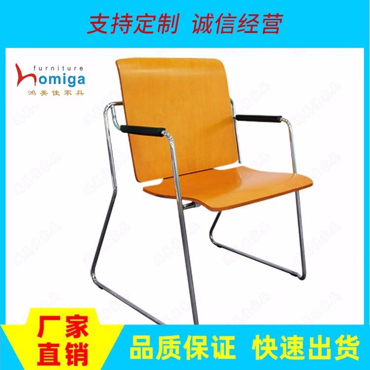 厂家直销多功能桌椅两用椅 可变换学习桌椅木板型 办公会议培训椅批发