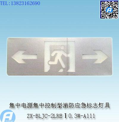 ZX-BLJC-2LREⅠ0.3W-A111集中电源集中控制型消防应急标志灯具