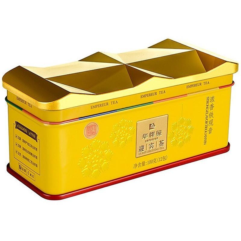 华祥苑茶叶 迎宾茶安溪铁观音 大红袍岩茶肉桂水仙红茶白茶罐装